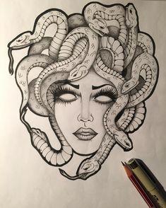 "50 Likes, 3 Comments - ✨Piffy's Word ✨ Italy  (@lev0let) on Instagram: ""MEDUSA.  #art #china #matita #snake #medusa #medusatattoo #nextstop #tattoo #serpenti…"""