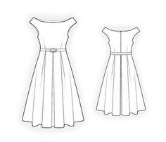 Lekala 4400 Dress Sewing Pattern PDF Download Free by TipTopFit