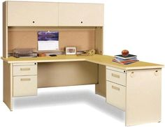 Steel L Shaped Desk with Hutch IBA033 *** See this great product.Note:It is affiliate link to Amazon.