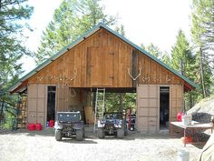 Shipping container garage/barn. | Homes: Shipping Container Home that ...