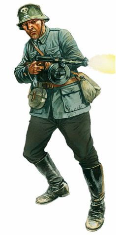 Finnish soldier, Suomi assault rifle, summer 1944 - pin by Paolo Marzioli