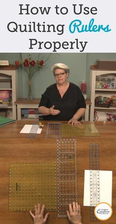 Learn how to use quilting rulers properly, including knowing what all of the hash marks and lines are used for in creating your quilting projects. Quilting Tools, Quilting Rulers, Quilting Tutorials, Machine Quilting, Quilting Projects, Quilting Designs, Quilting Ideas, Quilt Binding, Sewing Designs