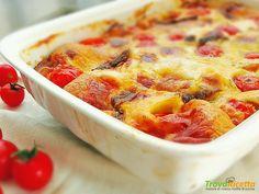 Clafoutis pomodorini, scamorza e acciughe  #ricette #food #recipes