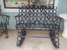 Horseshoe Rocking Bench