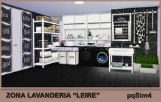 "Laundry Area ""Leire"". Sims 4 Custom Content. ~ PqSim4"
