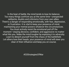 #robertgreene #33StrategiesOfWar #presenceofmind