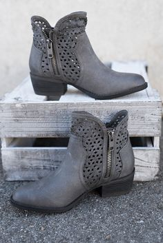 Peyette Not Rated Booties (Grey)