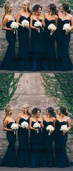Women Elegant Sweetheart Cheap Mermaid Long Bridesmaid Dresses, Beautiful Bridesmaid Dresses, TYP0341 #bridesmaiddresses