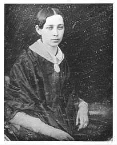 Haight, Phebe, 1824-1891. Photograph reproduction of Phebe Haight from a deguerrotype. In this image Haight is seated and wearing a dark gown and light colored blouse with a collar underneath. http://hdl.handle.net/1920/6428