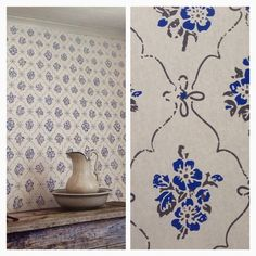 Would love this in a bedroom Swedish Wallpaper, Scandinavian Wallpaper, Scandinavian Interior, Scandinavian Style, Swedish Cottage, Red Cottage, Swedish House, Swedish Style, Kitchen Wallpaper