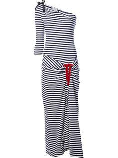 PETIT BATEAU Striped Maxi Dress