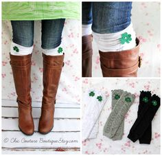 Hey, I found this really awesome Etsy listing at https://www.etsy.com/listing/179547196/st-patricks-ruffle-boot-cuffs-girls