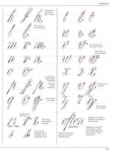 The Art of Calligraphy / Hispanoamérica. Artes...#page/n1/mode/2up -- Copperplate by jeannie