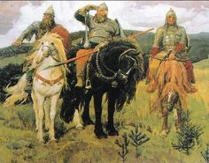 Warrior Knights, by Victor Mikhailovich Vasnetsov Framed Art Print Magnolia Box Size: Extra large Russian Painting, Russian Art, Russian Culture, Painting Art, Watercolor Paintings, Caballero Andante, Eslava, James Abbott Mcneill Whistler, Art Magique