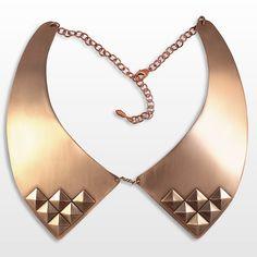 studded oxford collar in brass by LAB/laura busony.