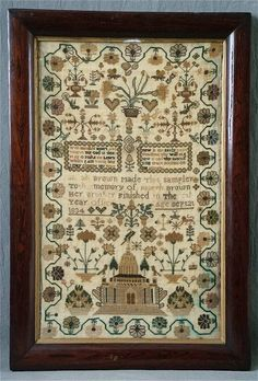 cross stitch samplers antique | Sarah Brown - Antique Sampler: The Scarlet Letter
