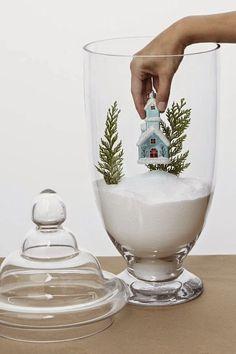 5 ideas de decoración navideña con frascos de apotecario