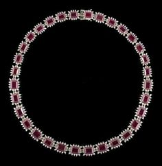 Lot: Ruby and Diamond Necklace, Lot Number: 0382, Starting Bid: $7,000, Auctioneer: New Orleans Auction Galleries, Auction: Fine Jewelry, Furs & Accessories      , Date: November 18th, 2017 CET