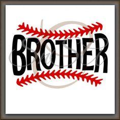 Baseball SVG Brother Ball Team Love Life Mom by SHAREnShareALIKE