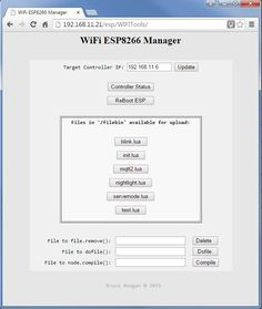 ESP8266 WiFi OTA Remote File Management