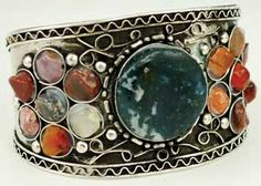 Jeweled Cuff bracelet ~ 12 Moons.net ~ Crystals, Tarot Decks, Incense, and More!
