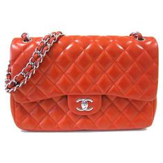Chanel Cruise 2012 Lipstick Red 2.55 Jumbo Flap Quilt Bag