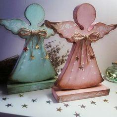 Centros de mesa y arreglos con angelitos