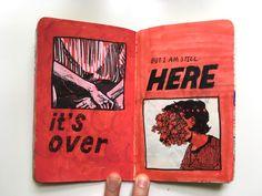 """deborah lee amalgam-project: """" 15 """" Sadie Koppelberger-project is still in works this summer! Kunstjournal Inspiration, Sketchbook Inspiration, Bullet Journal Art, Art Journal Pages, Art Journals, Art Sketches, Art Drawings, Art Diary, Arte Sketchbook"""