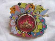 Disney Trading Pin 98933: HKDL - Spinner Castle Series - Tinkerbell, Marie and D