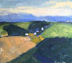"""The Farm Across the Hill, 2015. o/c, 32 x 36"""""""