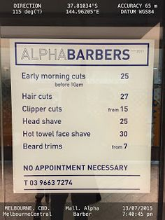 Quote discounted haircut price to attract customers to come during off peak hours to max store's profits   .haircut-ALPHABARBERS Barbers Haircut Melbourne Retail