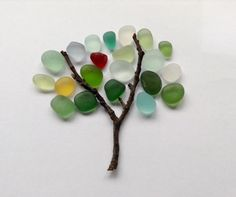 SEA GLASS TREE ART