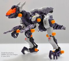 Zoids  Kotobukiya Highend Master Model  HMM-013 Gun Sniper     Zoids are model toy kits originally released by Tomy (now Takara-Tomy) in 1983. Zoids is short for Zoic Androids. More at http://www.squidoo.com/zoids