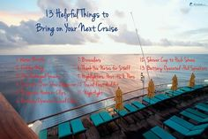 13 Helpful Things to Bring on Your Next Cruise | Cruise & Travel Tips
