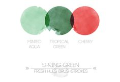 spring green | fresh hues brushstrokes