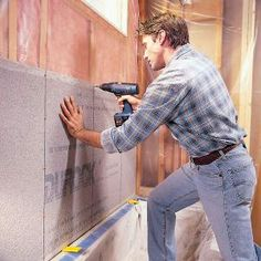 Cement Board Installation DIY with step-by-step instructions for bathroom walls (framing out tub)