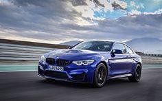 Herunterladen hintergrundbild bmw m4 cs 2018, straße, geschwindigkeit, blau, m4, deutsche autos, bmw