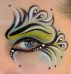The Original Jester Eye (Face Painting) by Catherine Pannulla