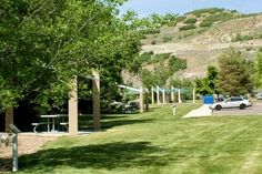 Canyon Glen Park, Provo Canyon. Picnic Tables and play area with access to the rive. Provo UT