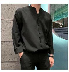 Korean Casual Outfits, Stylish Mens Outfits, Asian Men Fashion, Korean Street Fashion, Collared Shirt Outfits, Mode Outfits, Mens Clothing Styles, Ideias Fashion, Korean Men