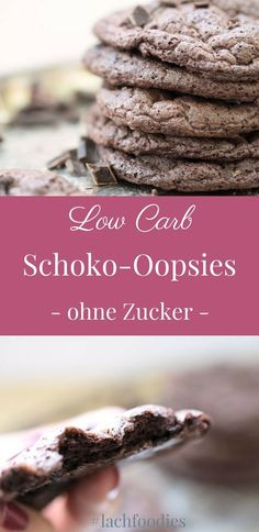 Schokoladen oopsies wolkenbrot ohne Kohlenhydrate Chocolate Oopsies Cloud Bread Without Carbs Dessert Sans Gluten, Paleo Dessert, Sugar Free Diet, Sugar Free Recipes, Low Carb Desserts, Low Carb Recipes, Healthy Recipes, Paleo Food, Paleo Diet