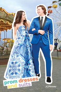 We know where you can find the prom dress you've always wanted. You can pair it with shoes and sparkle, too! Join Laura Marano and Joel Courtney at JCPenney to find all you need for prom. We have the styles of the season—from sweeping ball gowns and embroidered dresses to metallic knockouts. Whether you like bold prints or classic colors, we'll help you take prom in your own direction.
