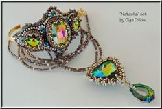 Natasha Set Beaded Embroidery Bracelet and por Olgaterranova, $59.00