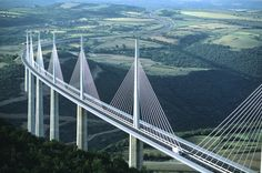 Millau Viaduct, France.  Driven over this bridge on way to Spain.  Fantastic views and visitor centre.