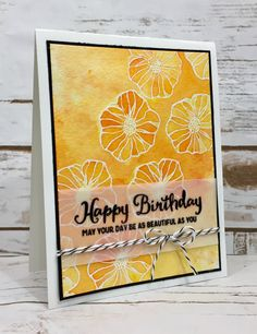 Stampin' Up! - Brusho Watercolor Emboss Resist - World of JenCraft