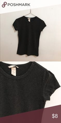Basic grey tee from H&M Soft grey lounge tee from H&M H&M Tops Tees - Short Sleeve