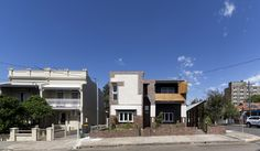 RESIDENTIAL ARCHITECTURE – MULTIPLE HOUSING AWARD - 3 Houses Marrickville by David Boyle Architect. Photo by Brett Boardman.