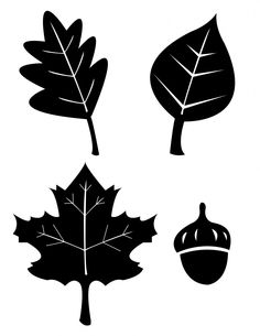 Holiday Templates. Fall leaves.