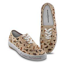 Dachshund Sneakers-I hate having big feet! I wear a women's size 12! These are so cute!