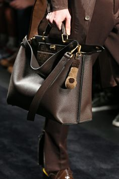 The Fendi Men's Fall/Winter Collection designed by Creative Director Sil. - Men's style, accessories, mens fashion trends 2020 Mens Boots Fashion, Best Mens Fashion, Fashion Bags, Men's Fashion, Fashion Eyewear, Fashion Shirts, Funky Fashion, Fashion Watches, Luxury Fashion